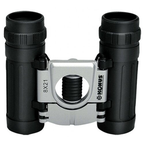 Фото - Бинокль KONUS Basic 8x21 черный/серебристый бинокль konus basic 8x21 черный серебристый