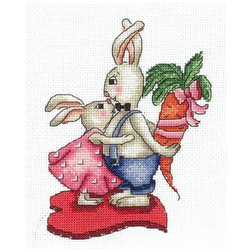 Сделай своими руками Набор для вышивания Зайки. Любовь-морковь 12,5 x 16,5 см