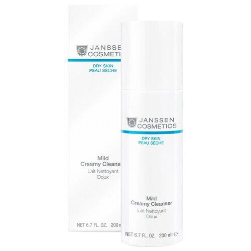 Janssen Cosmetics эмульсия очищающая Mild Creamy Cleanser, 200 мл эмульсия для тела janssen cosmetics isoflavonia с фитоэстрогенами 200 мл