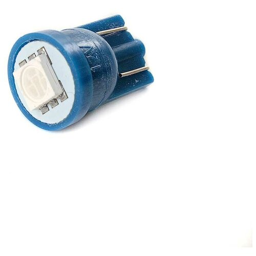Маяк Лампа светодиодная маяк 12V W5W синий 12T10B1SMD