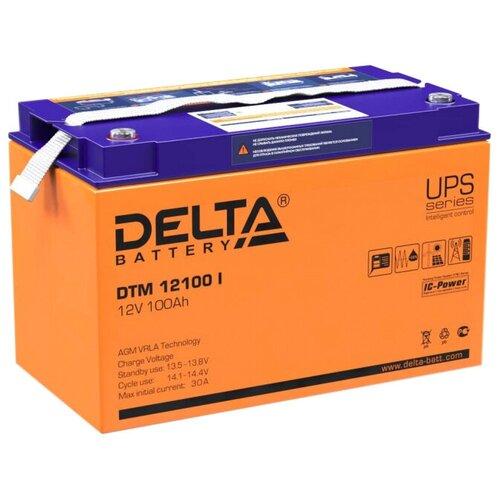 Аккумуляторная батарея DELTA Battery DTM 12100 I 100 А·ч аккумуляторная батарея delta battery dtm 12250 i 250 а·ч