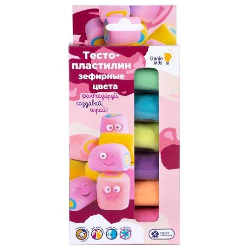 Купить Масса для лепки Genio Kids Зефирные цвета 6 цветов (TA1089), Пластилин и масса для лепки