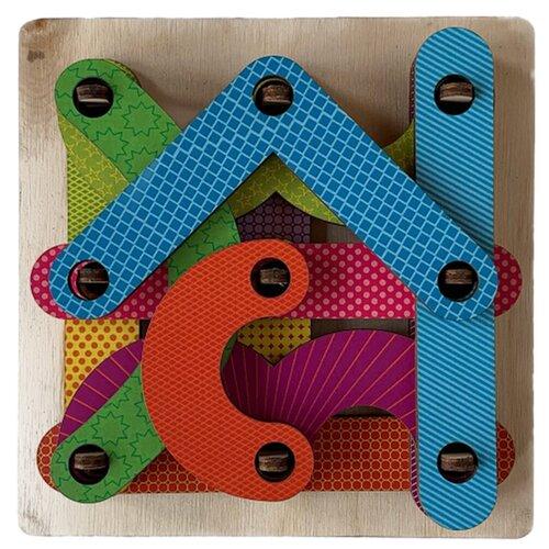Развивающая игрушка PAREMO Геоборд Фигуры, красный/синий/зеленый