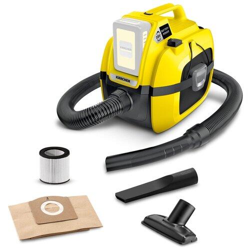Фото - Профессиональный пылесос KARCHER WD 1 Compact Battery, 230 Вт, желтый/черный профессиональный пылесос karcher nt 40 1 ap l 1380 вт серый
