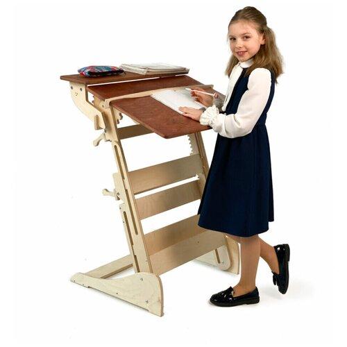 Купить Стол для работы стоя «Гармония» на рост 90-160 см, столешница светлый орех, ЖивиСтоя, Парты и столы