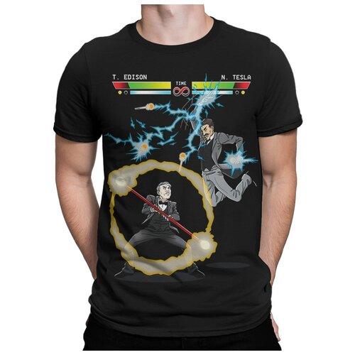 Футболка Dream Shirts Тесла Против Эдисона Мужская 2XL Черная