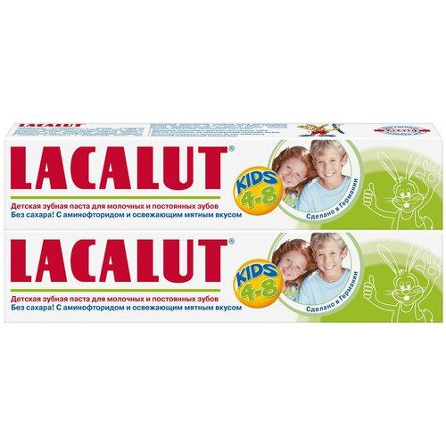 Купить Зубная паста Lacalut Kids 4-8 лет, 2 шт., 50 мл, Гигиена полости рта