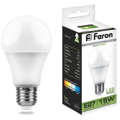 Фото - Лампа светодиодная Feron LB-94 Шар E27 15W 4000K (упаковка 10 шт) лампа светодиодная feron lb 65 25822 e27 e40 70w 4000k цилиндр матовая