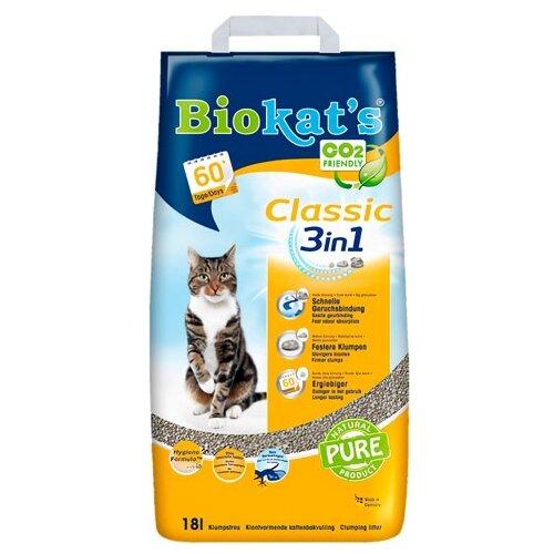 Комкующийся наполнитель Biokat's Classic 3in1 (18л)