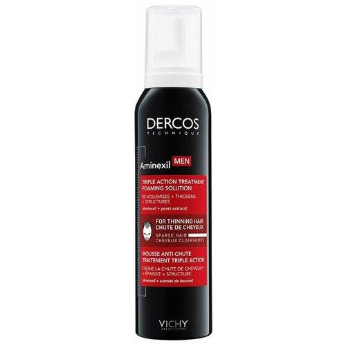 средство против выпадения волос для мужчин аминексил intensive 5 21 монодоза vichy dercos aminexil Vichy DERCOS AMINEXIL Средство против выпадения волос для мужчин в формате пены, 150 мл