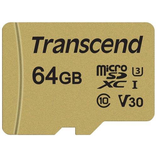 Фото - Карта памяти Transcend TS64GUSD500S карта памяти transcend ts16gusdc10