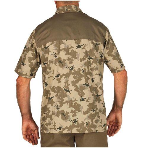 Рубашка 100 MC, размер: XL, цвет: Разноцветный/Темно-Ореховый SOLOGNAC Х Декатлон