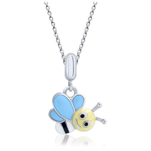 UMa & UMi Детский серебряный кулон подвеска Веселая пчелка UMI Fly 319565500604
