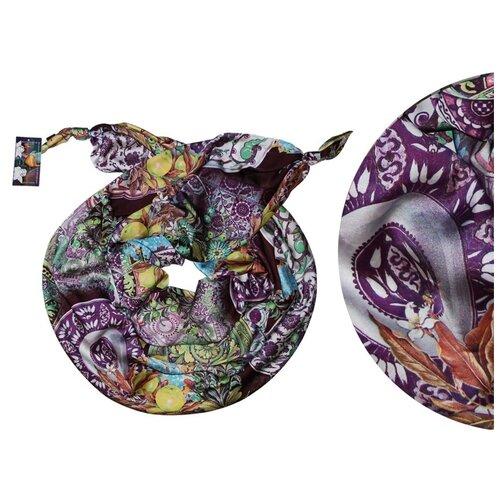 Двойной шарф-долька Оланж Ассорти серия Апрель с узелками dolka-шелк-z-125