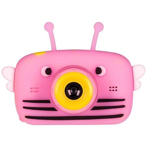 Фотоаппарат GSMIN Fun Camera View с играми розовый