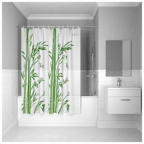 Штора для ванной IDDIS P20PV11I11 180 х 180 белый