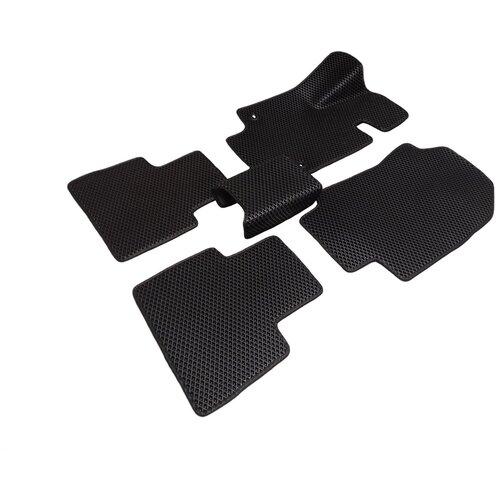 Автомобильные коврики салона Autodefender EVA для Toyoya RAV 4 (XA20, 5 дверей 2000 - 2006 (комплект 5 шт) черный ромб с черным кантом