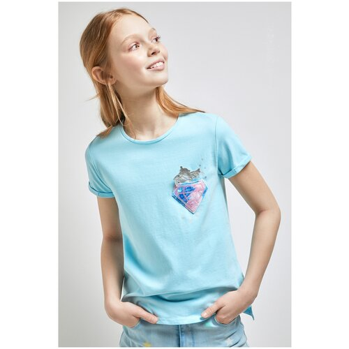 Фото - Футболка для девочек размер 158, голубой, ТМ Acoola, арт. 20210110303 футболка acoola размер 158 белый