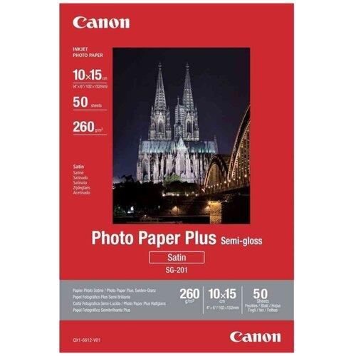 Фото - Бумага Canon А6 Plus Semi-gloss SG-201 260 г/м² 50 лист., 50 пачк., белый бумага canon zink zp 2030 3214c002 20 лист белый