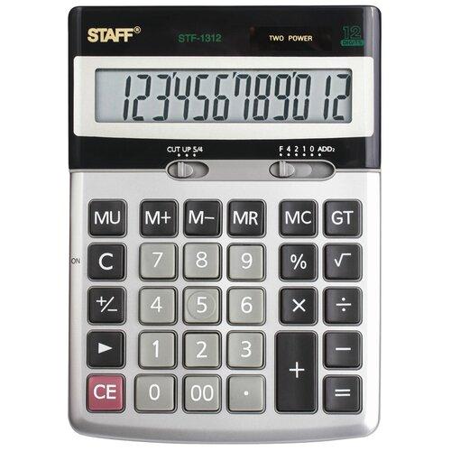 Калькулятор настольный STAFF STF-1312 металлик