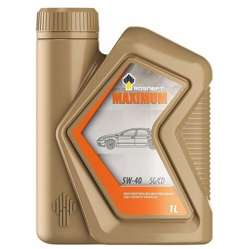 Полусинтетическое моторное масло Роснефть Maximum 5W-40 SG/CD, 1 л