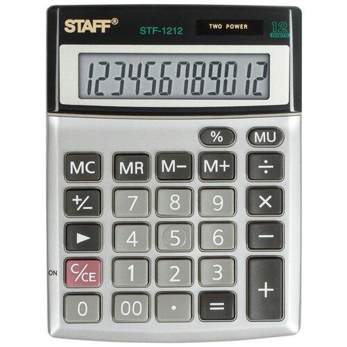 Калькулятор настольный STAFF STF-1212 металлик