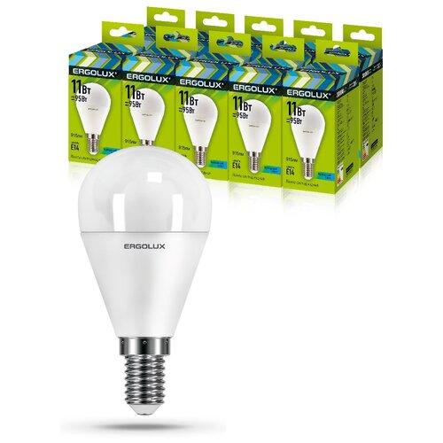 Фото - Светодиодная Лампа Ergolux LED-G45-11W-E14-4K упаковка 10 шт светодиодная лампа ergolux led g45 11w e27 6k упаковка 10 шт