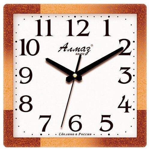 Фото - Часы настенные кварцевые Алмаз M39/M40 коричневый/белый часы настенные кварцевые алмаз a87 коричневый белый