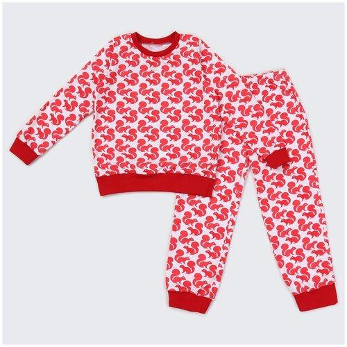Купить 2781165 Пижама: Джемпер, брюки Пижамы 2021 , КотМарКот, размер 110, состав:100% хлопок, цвет Белый, KotMarKot, Домашняя одежда