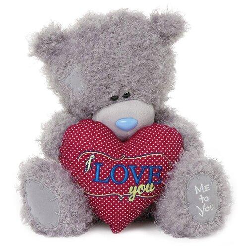 Мягкая игрушка Me to you Мишка Тедди с сердцем I love you 25 см