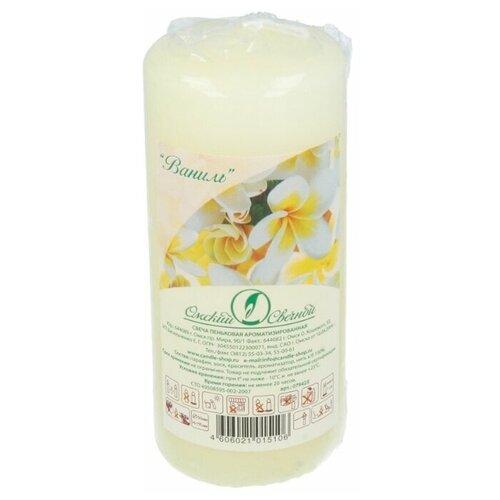Свеча Омский Свечной Пеньковая ароматизированная 5 x 11 см ваниль (079423) белый