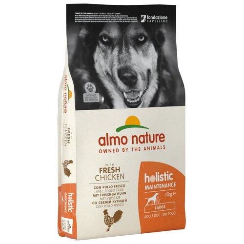 Сухой корм для собак Almo Nature Holistic, курица 12 кг (для крупных пород) сухой корм для щенков almo nature holistic курица 12 кг для мелких пород
