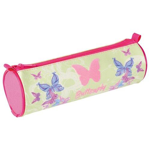 Купить Berlingo Пенал-тубус Butterfly (PM04707) зеленый/розовый, Пеналы