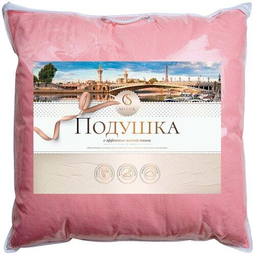 Подушка Selena Crinkle line 70 х 70 см розовый