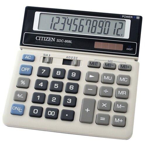 Калькулятор бухгалтерский CITIZEN Citizen SDC-868L белый