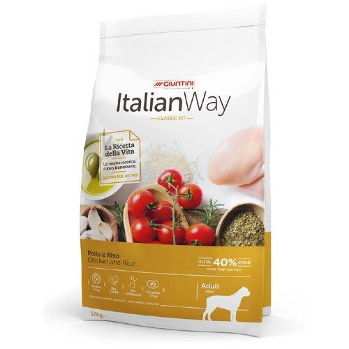 Сухой корм для собак Italian Way курица, с рисом 12 кг (для крупных пород) сухой корм для собак brooksfield курица с рисом 3 кг для крупных пород