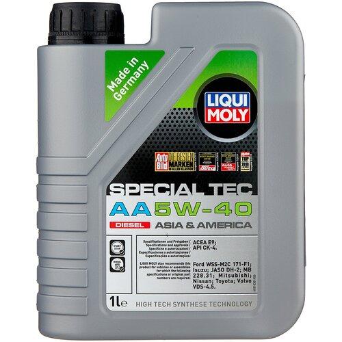 Синтетическое моторное масло LIQUI MOLY Special Tec AA Diesel 5W-40 1 л моторное масло liqui moly top tec 4100 5w 40 sn cf a3 b4 c3 5 л нс синтетическое 7501