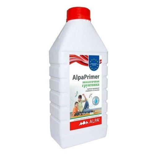 Alpa Грунтовка акриловая для внутренних работ AlpaPrimer (с фунгицидами), 1л