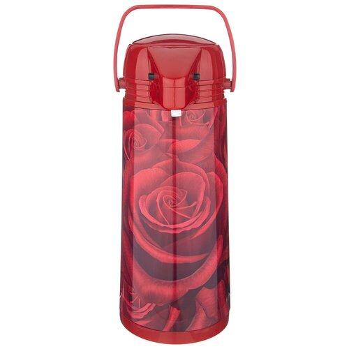 Помповый термос Agness Кармен 910-665, 1.9 л красный