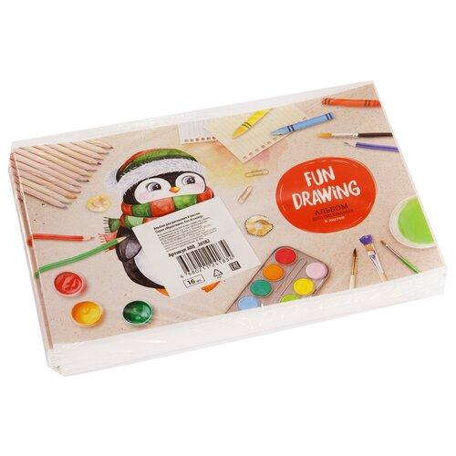 Купить Набор альбомов для рисования ArtSpace Мультяшки. Fun drawing 29.7 х 21 см (A4), 100 г/м², 8 л. (16шт.), Альбомы для рисования