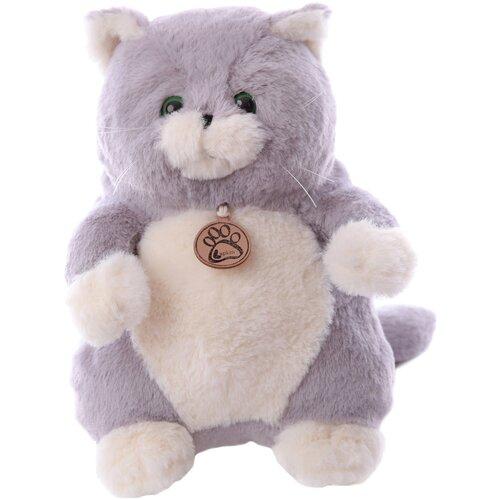 Мягкая игрушка Lapkin Толстый кот серый 26 см