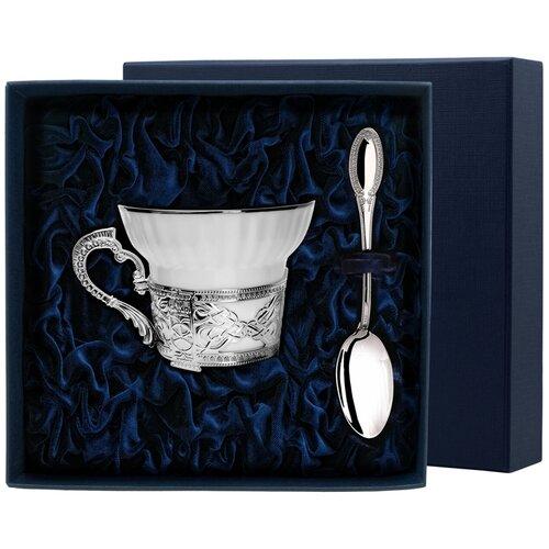 Фото - АргентА Набор чашка чайная Конст. Великий+ ложка (2 предмета) аргента набор чашка чайная виноград ложка 2 предмета