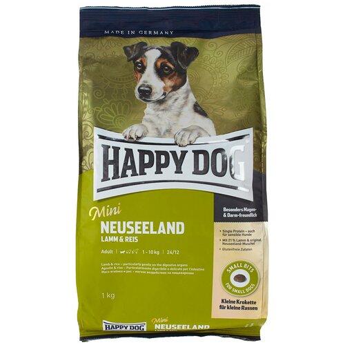 Фото - Сухой корм для собак Happy Dog Mini Neuseeland, при чувствительном пищеварении, ягненок 1 кг (для мелких пород)