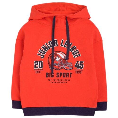 Купить Худи crockid размер 122, ярко-красный к1259, Толстовки