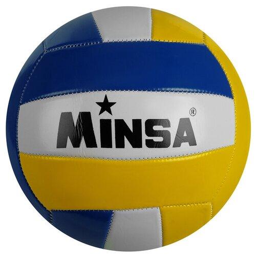 Мяч волейбольный MINSA, размер 5, 260 гр,18 панелей, машинная сшивка 1278065
