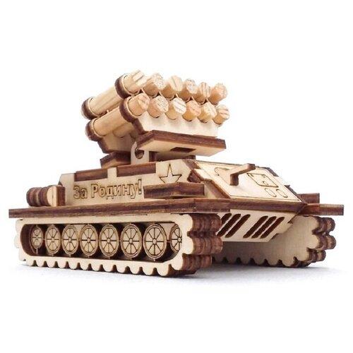 сборная модель мир деревянных игрушек ракетная установка п052 Сборная модель - РАКЕТНАЯ УСТАНОВКА СДМ-37К