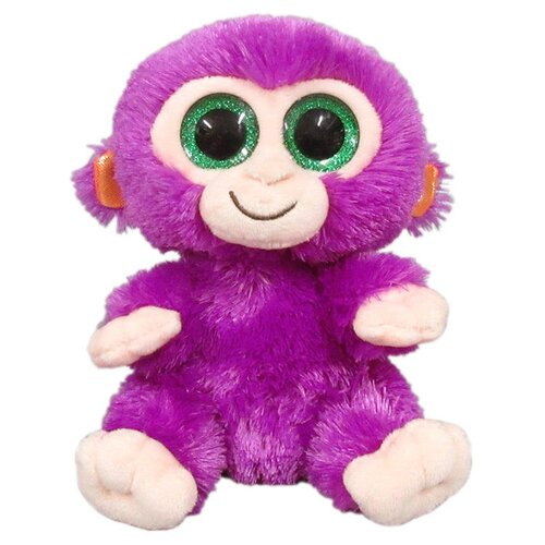 Мягкая игрушка Yangzhou Kingstone Toys Обезьянка фиолетовая 15 см