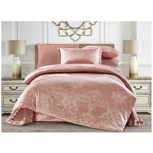 Постельное белье евростандарт Tango CJ03-43, жаккард, 50 х 70 см, розовый