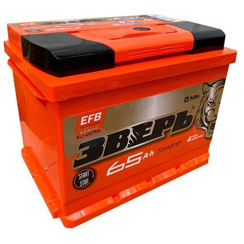ЗВЕРЬ EFB 6СТ-65.0 L3У аккумулятор автомобильный