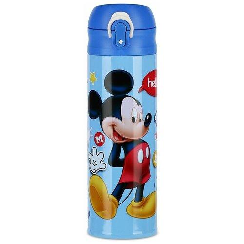 Термокружка MOULIN VILLA Disney Mickey Mouse, 0.5 л голубой напиток безалкогольный disney mickey mouse с виноградным соком 0 75 л